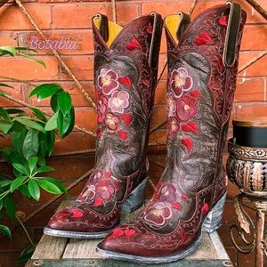 🆕 OLD GRINGO NEW! Pansy Floral Western Boots 8